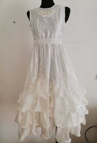 Sukienka biała komunia bal r. 146