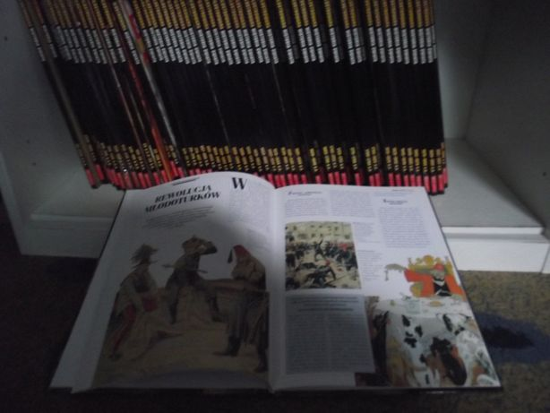 Ilustrowana historia Świata okolo 50 tomów piękne wydanie 175 zł kpl
