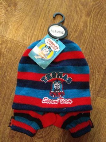Комплект демисезонный шапка и варежки Thomas&Friends 6-23 мес