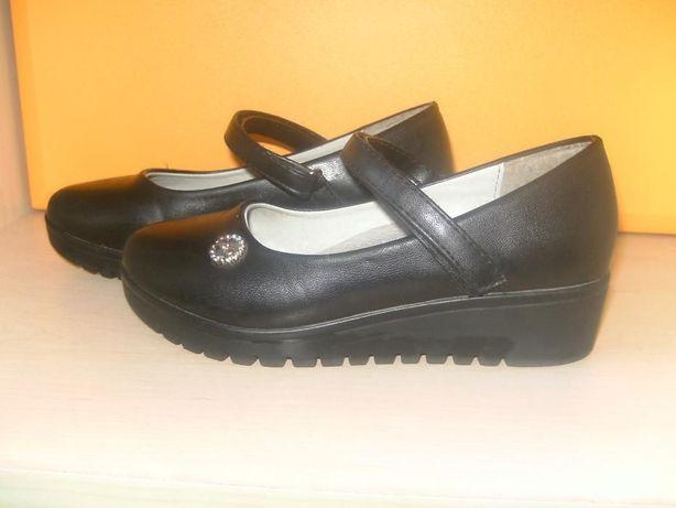 туфли детские черные на платформе 31