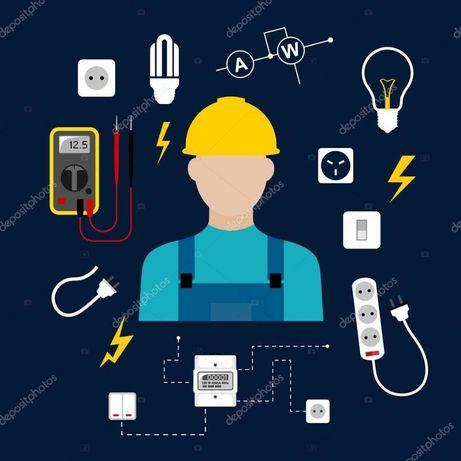 Електрик, виклик електрика, електромонтаж