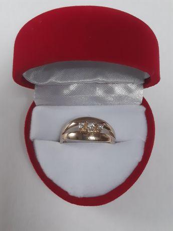 Pierścionek złoty śliczny  gruby