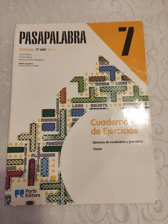 Caderno Atividades Pasapalabra 7, Espanhol, 7 ano
