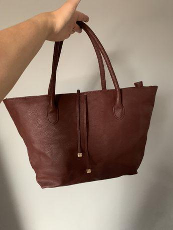 Bordowa torebka marki H&M