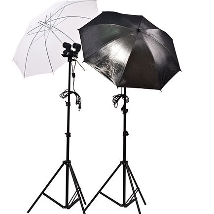 740грн. Набор постоянного света: стойка 2м + зонт + держатель 2-х ламп