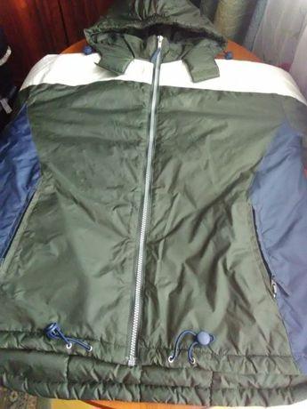 Куртка болонова, утеплена осінь-весна 14-16 лет, ріст рост 158-164 см