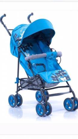 Детская прогулочная коляска Geoby D208R, коляска трость, трость
