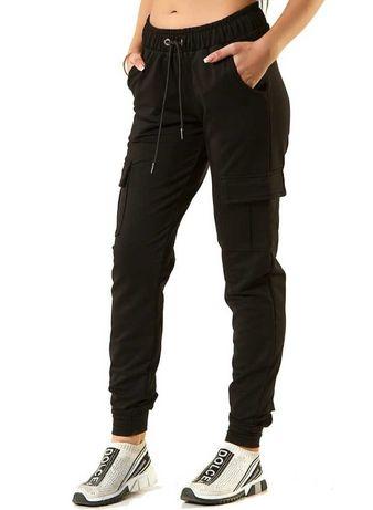 Черные спортивные демисезонные джоггеры брюки/sports joggers women