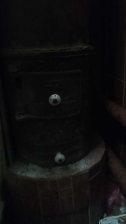 Буржуйка топка пічка під титан чавунна чугунная