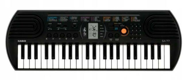 Keyboard Casio SA-77, ZASILANIE BATERYJNE, Okazja!