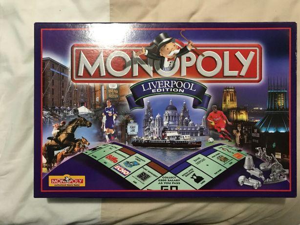 jogo de tabuleiro MONOPOLY liverpool edition coleção