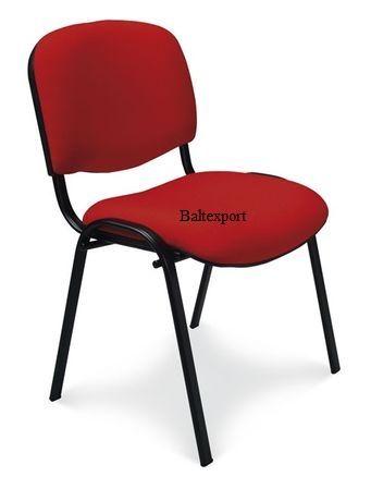 Cadeira visitante 4 pés fixos empilháveis revestimento Tecido/Pele Sin