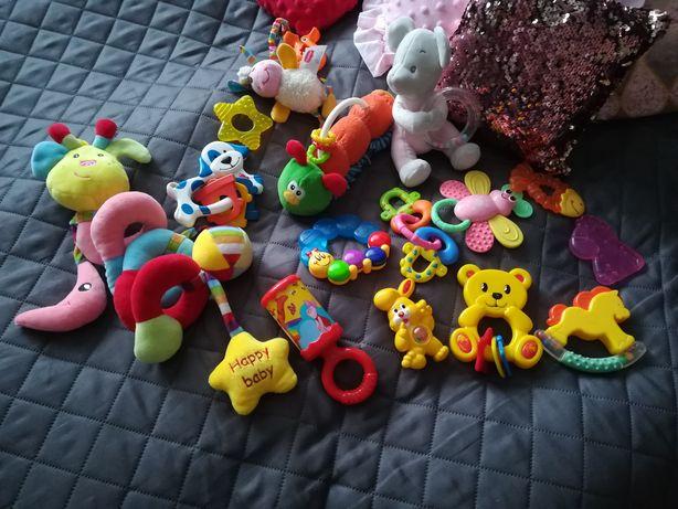 Grzechotki, gryzaki, zabawki dla niemowląt