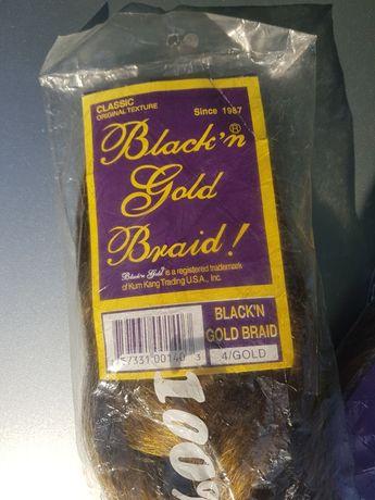 Волосы Blackn Gold Braid