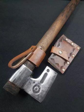 Кованый топор ручной работы для кемпинга