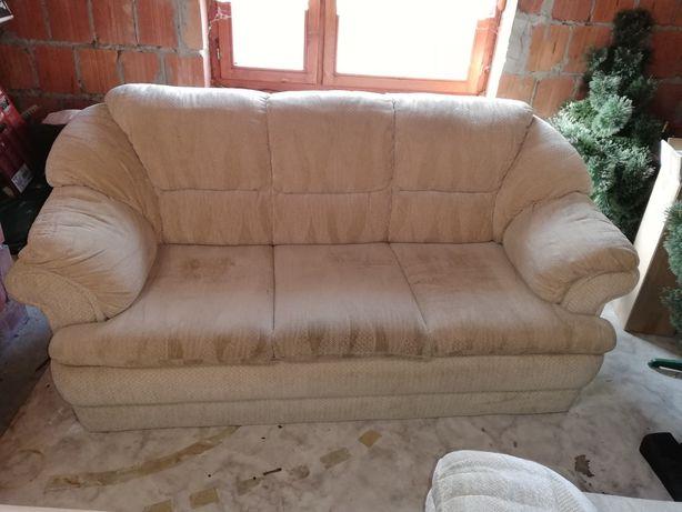 Zestaw wypoczynkowy sofa i 2 duże fotele