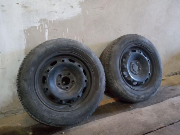 Два колеса в сборе с резиной, 185/65 R14 Skoda fabia 14 5 100, шины
