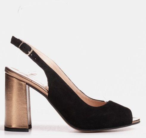 Nowe, skórzane sandały Marco Shoes