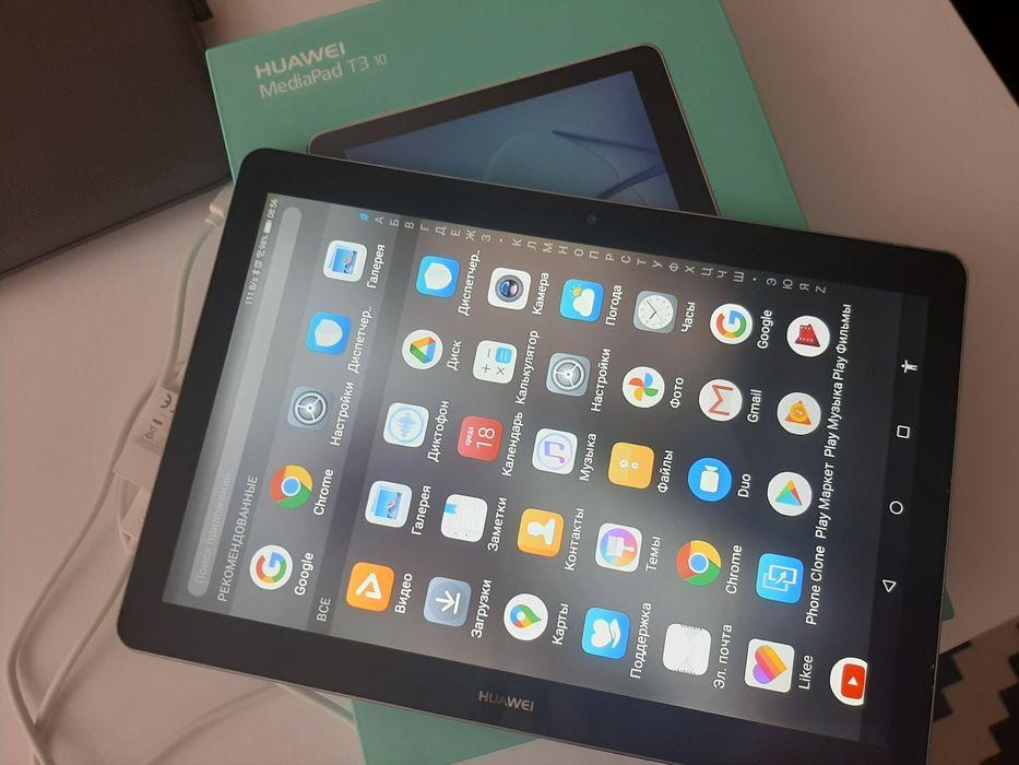 Продам абсолютно новый планшет Huawey Mediapad T3 10,4G с Sim! Южное - изображение 1