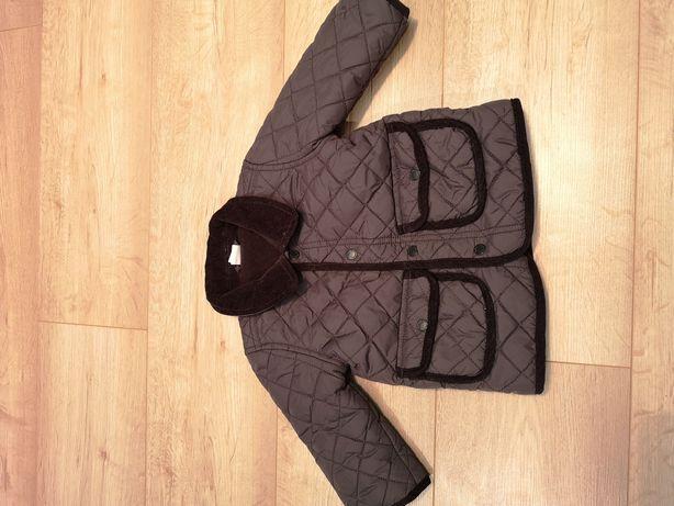 Elegancka kurtka chłopięca r. 68 H&M brązowa, pikowana
