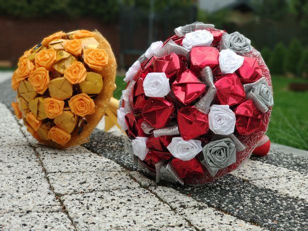 Słodki bukiet z cukierków na każdą okazję, urodziny, imieniny, ślub