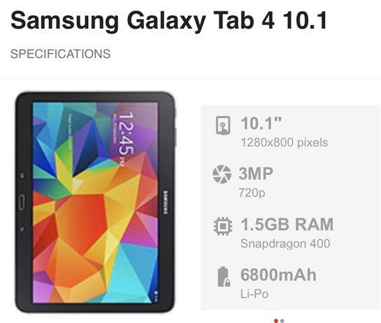 """Vendo samsung tab4 10"""" (SM-T530)"""