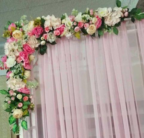 Цветы свадебные искусственные, готовая композиция, продажа/прокат