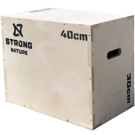 Skrzynia plyometryczna drewniana PRODUCENT 30x40x50 STRONG NATURE FV