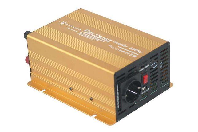 Inversor Conversor 600W/1200W Reais Onda Pura 12V - 220V