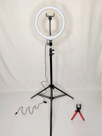 [NOVO] Ring Light [26 cm] com Tripé Extensível [60 cm - 200 cm]