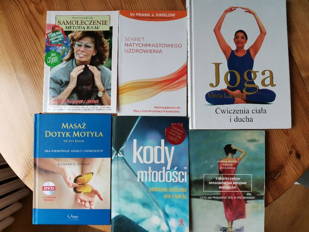 Zestaw 6 książek o tematyce samorozwoju i zdrowia