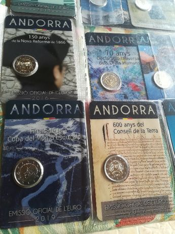 Moedas 2 Euros Andorra