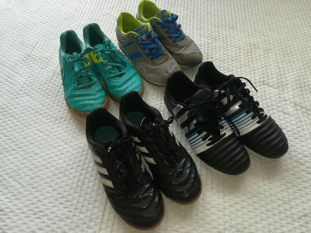 Zestaw firmowych butów sportowych rozm 36 + ochraniacze