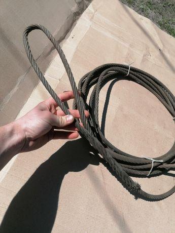 Трос стальной буксировочный 10м, 11мм