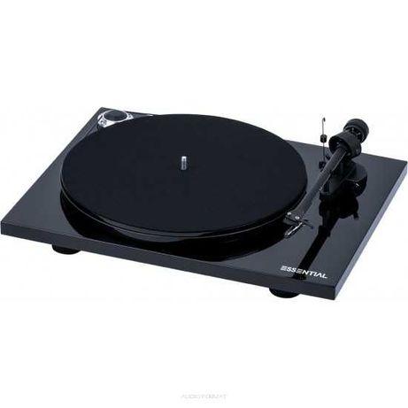 Pro-Ject Essential III Czarny z OM10 - Gramofon + Wkładka Ortofon