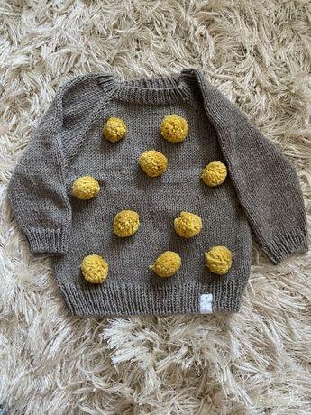 Sweter sweterek recznie wykonany firmy la dori handmade
