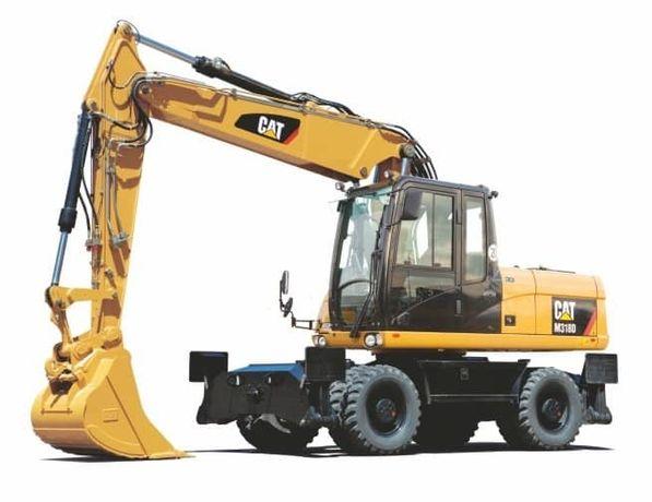 Аренда Услуги полноповоротного колесного экскаватора CAT М318 (+молот)