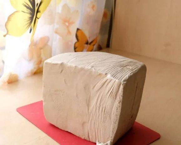 Натуральная белая глина 3 кг,керамическая масса, глина для лепки