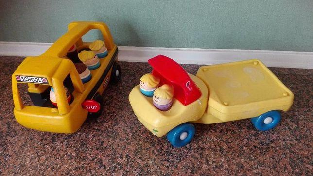 autko zabawka autobus i bagażówka / little tikes