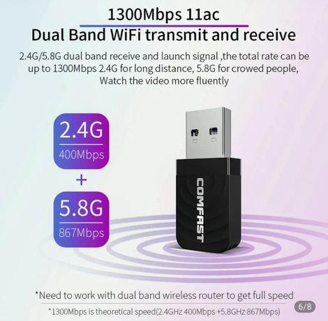 Adaptador wifi USB 3 (2.4-5.8G)
