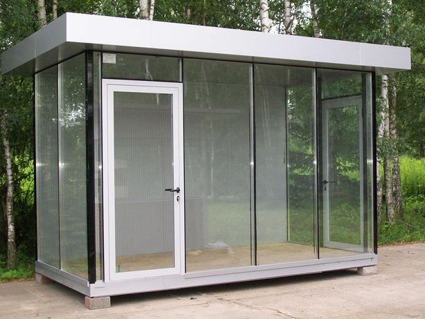 pawilon handlowy kontener biurowy modułowy portiernia wartownia