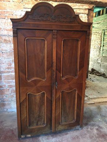Stara drewniana szafa ludwikowska antyczna dworska piękna!