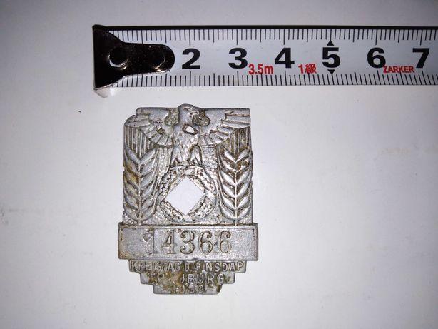 Odznaka 1939 rok, NSDAP, kolekcjonerska. Zaproponuj cenę...