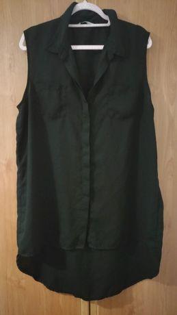 Nowa czarna bluzka do spodni. Przód krótszy, tył dłuższy, xxl 48
