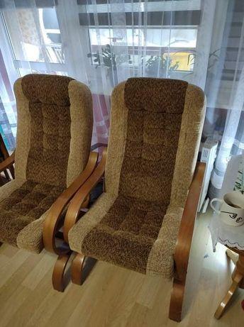 Fotele brązowe bardzo dobry stan