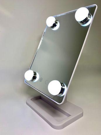 Зеркало с подсветкой Cosmetie mirror 360 для макияжа, косметическое на