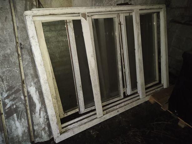 Drewniane okna  z demontażu 207x145