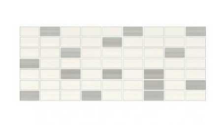 Mozaika organza bialo szara 20x50cm. Gat.2.