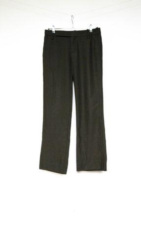 Zara spodnie eleganckie brąz w kant wełniane wełna 38 M