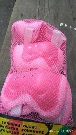 Защита розовая для катания на роликах детская для ребенка,захист